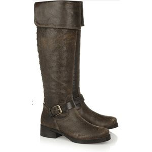 TORY BURCH Tarulli distressed over-the-knee boots